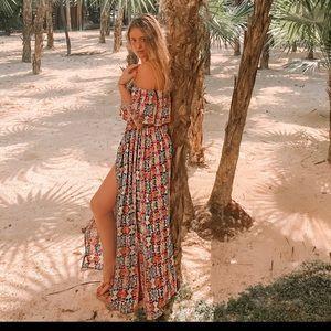 ASOS Dresses - ASOS 2pc Print Crop Top & Slit Maxi Skirt Set